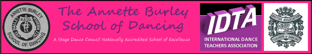 Header for the Annette Burley School of Dancing